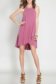 She + Sky Pink Slip Dress - Product Mini Image