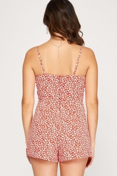 She + Sky Sleeveless Floral Print Romper - Alternate List Image