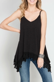 She + Sky Sleeveless Handkerchief Camisole - Product Mini Image