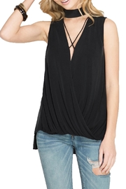She + Sky Sleeveless Knot Tank - Front cropped