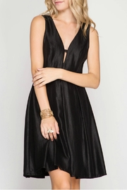She + Sky Sleeveless Metallic Dress - Product Mini Image