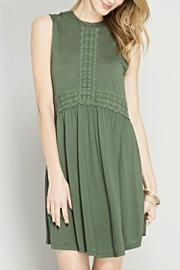 She + Sky Sleeveless Olive Dress - Product Mini Image