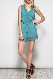 She + Sky Sleeveless Romper - Product Mini Image
