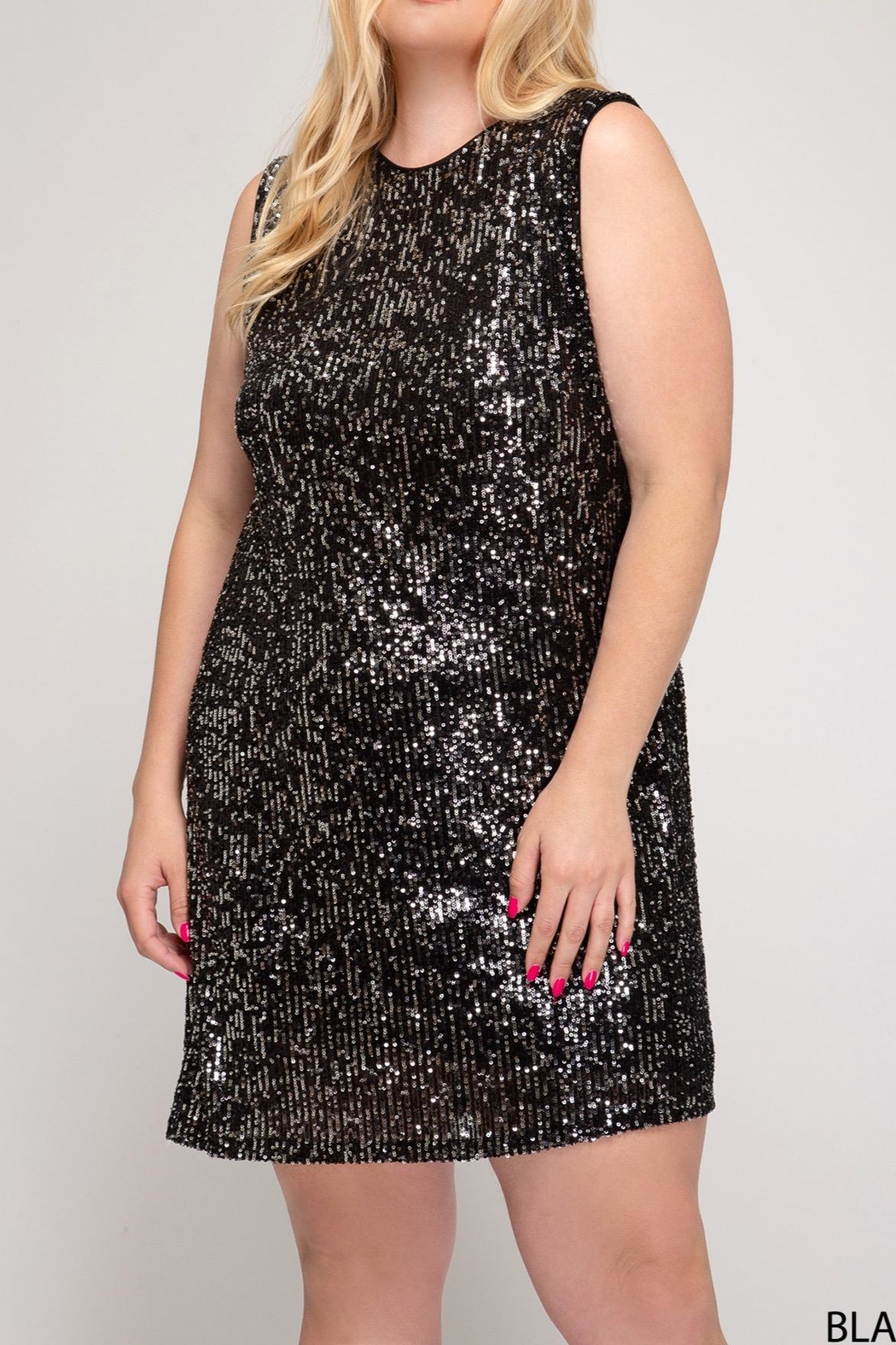 She + Sky Sleeveless Sequin Dress - Main Image