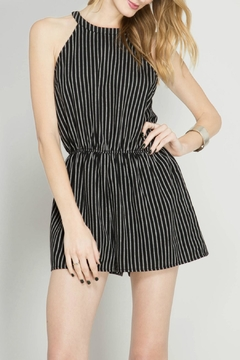 Shoptiques Product: Sleeveless Striped Romper