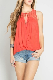 She + Sky Sleeveless Textured Top - Product Mini Image
