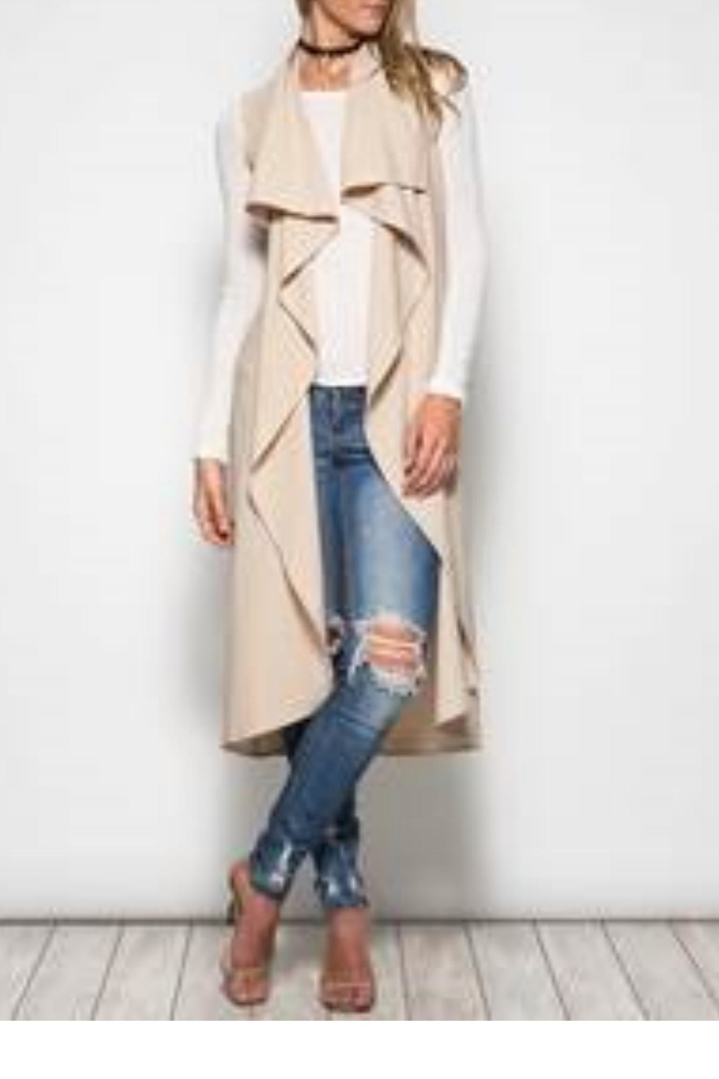 She + Sky Sleeveless Trench Coat - Main Image