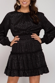 She + Sky Smocked Long-Sleeve Dress - Product Mini Image
