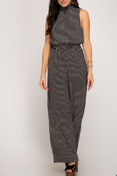 She + Sky Smocked Neck Jumpsuit - Product List Image