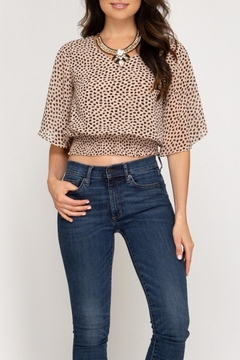 She + Sky Smocked Waistband Top - Product List Image