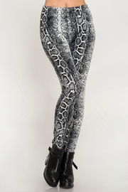 She + Sky Snake-Print High-Waisted Leggings - Back cropped
