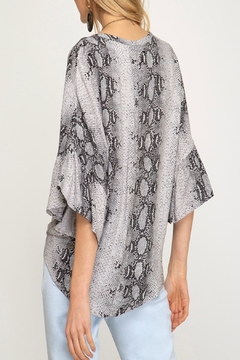 She + Sky Snake Print Top - Alternate List Image