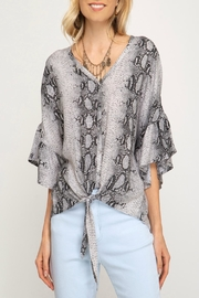 She + Sky Snake Print Top - Product Mini Image