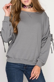 She + Sky So Sweet Sweatshirt - Front cropped