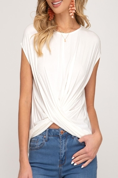 01864600803 ... She + Sky Soft Cross Top - Product List Placeholder Image