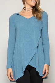 She + Sky Soft Hooded Top - Product Mini Image