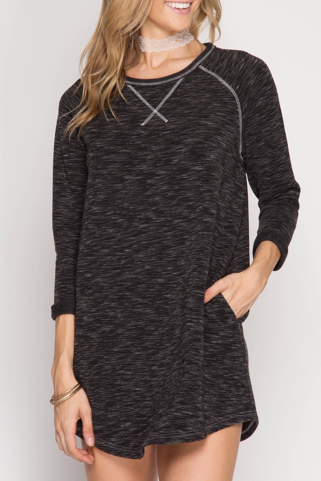 She + Sky Soft Knit Dress - Main Image