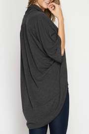 She + Sky Soft Open Cardigan - Front full body
