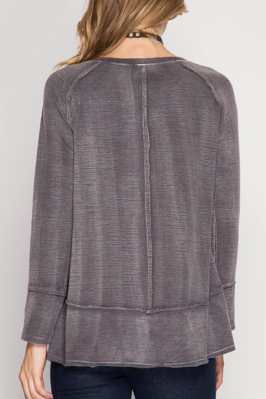 She + Sky Soft Washed Top - Front Full Image