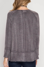 She + Sky Soft Washed Top - Front full body