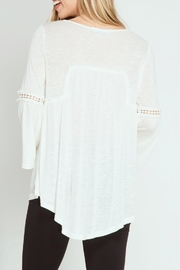 She + Sky Sophia Bell Top - Front full body