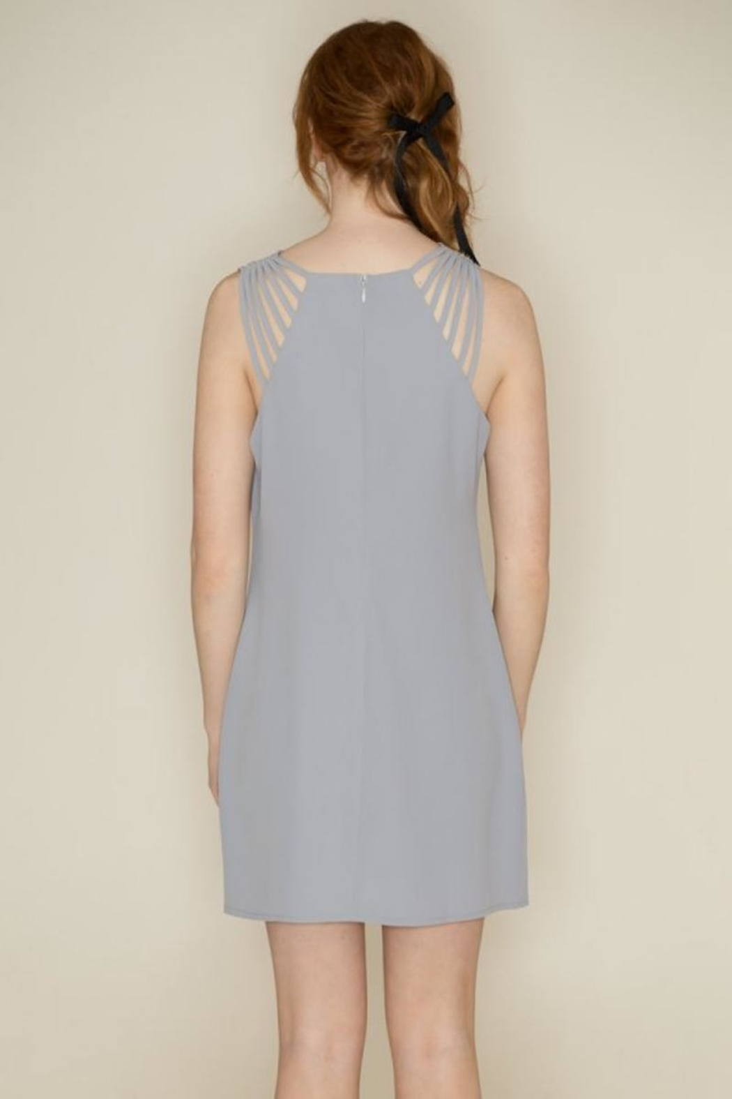 She + Sky Spaghetti Strap Dress - Back Cropped Image