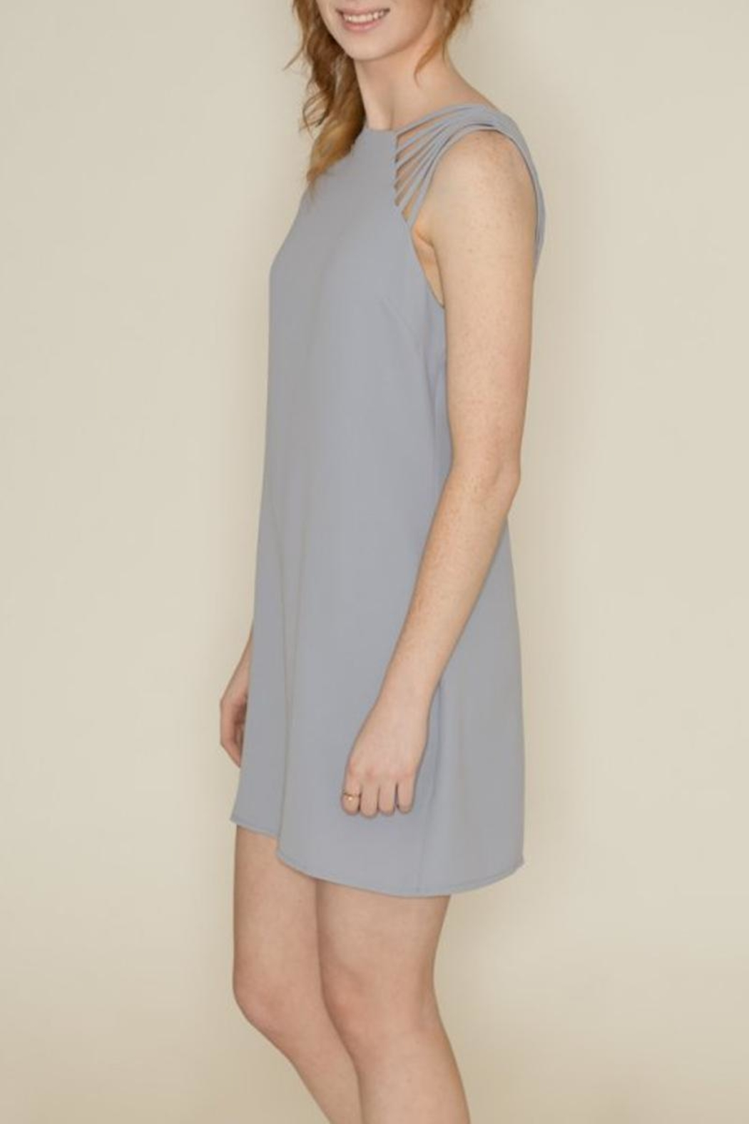 She + Sky Spaghetti Strap Dress - Side Cropped Image