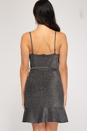 She + Sky Sparkly Cowl-Neck Dress - Front full body