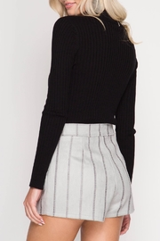 She + Sky Stitched Faux-Suede Shorts - Side cropped
