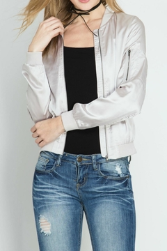 Shoptiques Product: Stone Grey Bomber Jacket