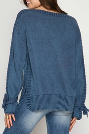 She + Sky Stone Wash Sweater - Front full body