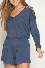 She + Sky Stone Washed Romper - Side cropped