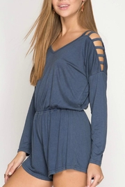 She + Sky Stone Washed Romper - Product Mini Image