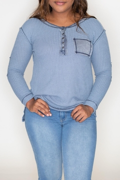 She + Sky Stonewashed Thermal Top - Product List Image