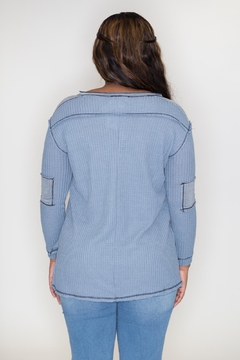 She + Sky Stonewashed Thermal Top - Alternate List Image