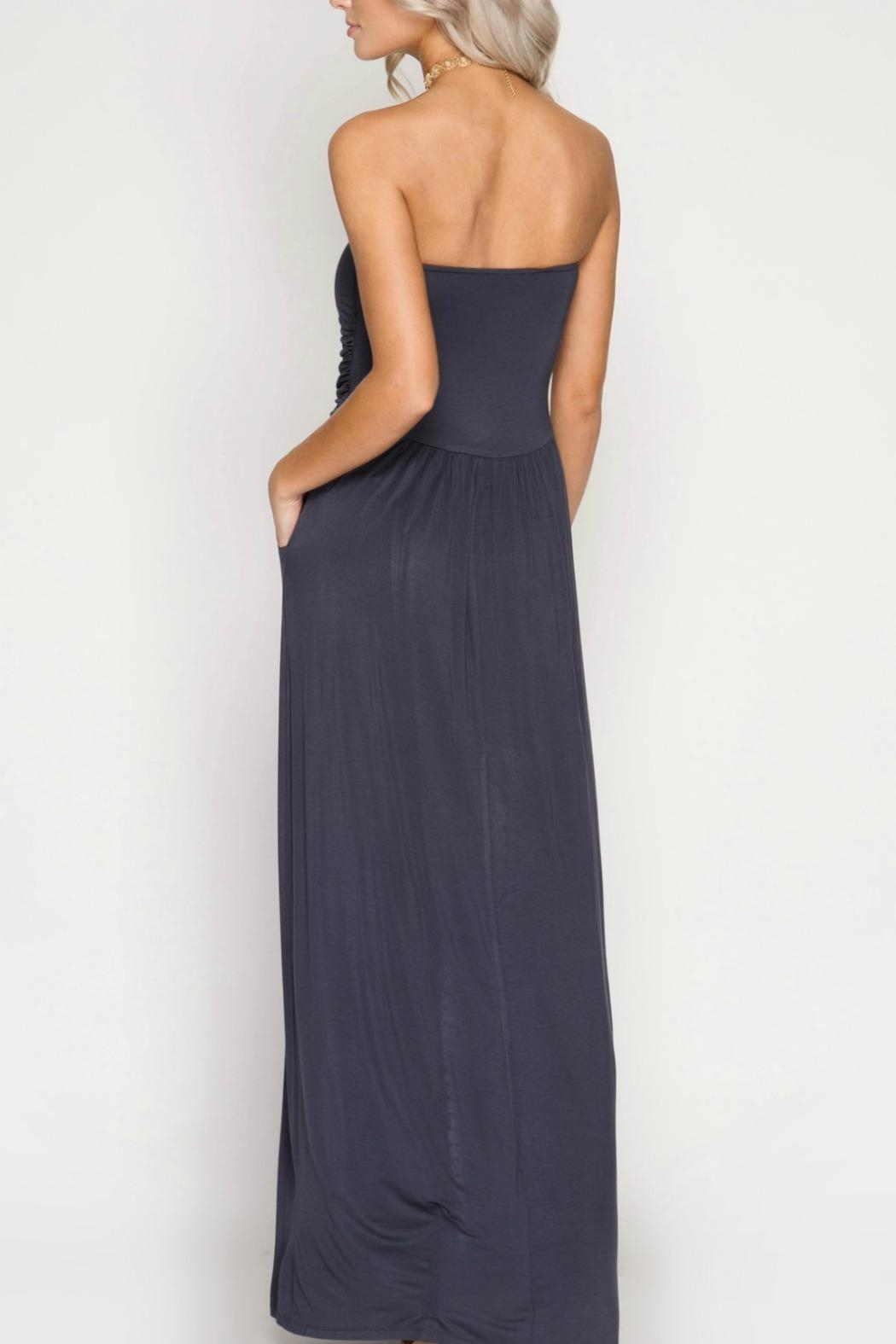 She + Sky Strapless Maxi Dress - Front Full Image