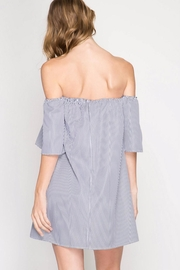She + Sky Strapless Bow Front Dress - Front full body