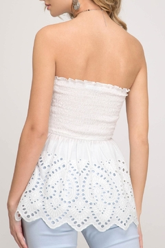She + Sky Strapless Lace Top - Alternate List Image