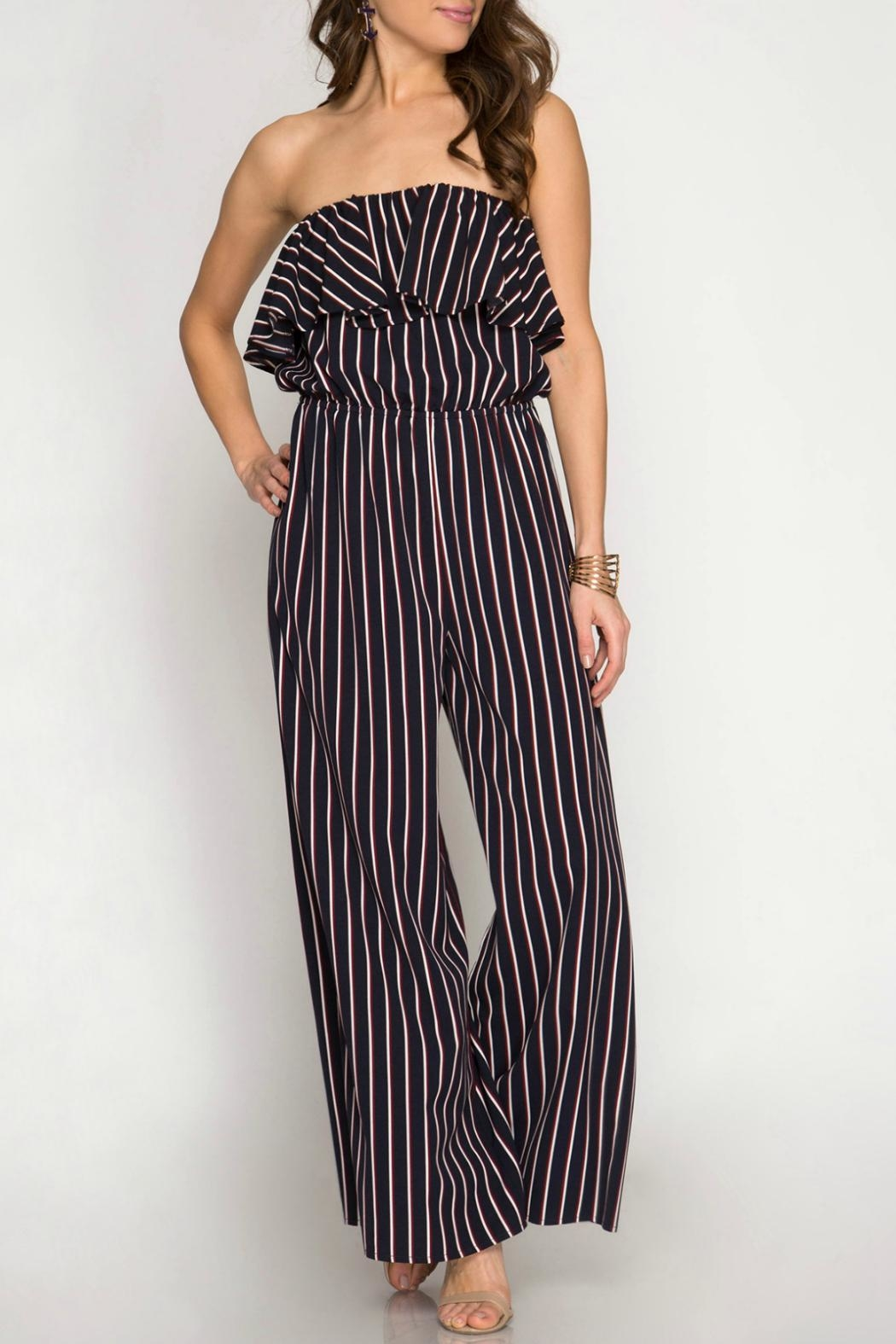 a0da9219bbfb She + Sky Strapless Striped Jumpsuit from New Jersey by Charlotte s ...