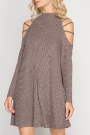 She + Sky Strappy Shoulder Dress - Product Mini Image