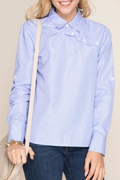 Shoptiques Product: Striped Button-Over Shirt