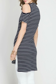She + Sky Move On Striped Tunic - Front full body