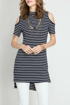 She + Sky Move On Striped Tunic - Product List Image