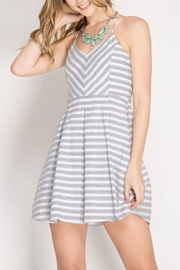 She + Sky Striped Flare Dress - Product Mini Image