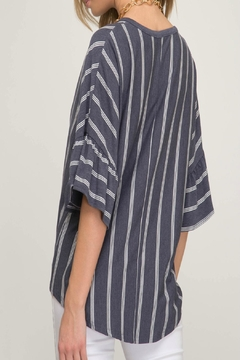 She + Sky Striped Front-Tie Top - Alternate List Image