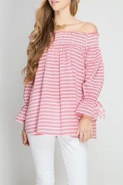 She + Sky Striped Off Shoulder - Product Mini Image