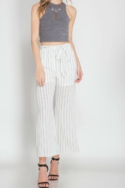 She + Sky Striped Trousers - Product Mini Image