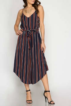 She + Sky Striped Wideleg Jumpsuit - Product List Image