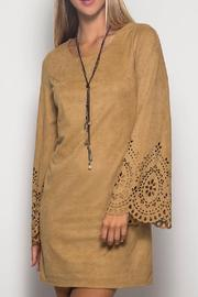 She + Sky Suede Detailed Dress - Product Mini Image