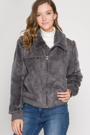 She + Sky Suede Fur Jacket - Product Mini Image